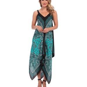 Micheal Kors Silk Scarf Print Maxi Dress